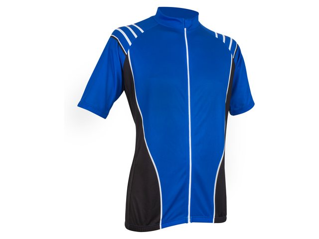 FastRider Flame Cycling Jersey Ss Blue/Black - Size M