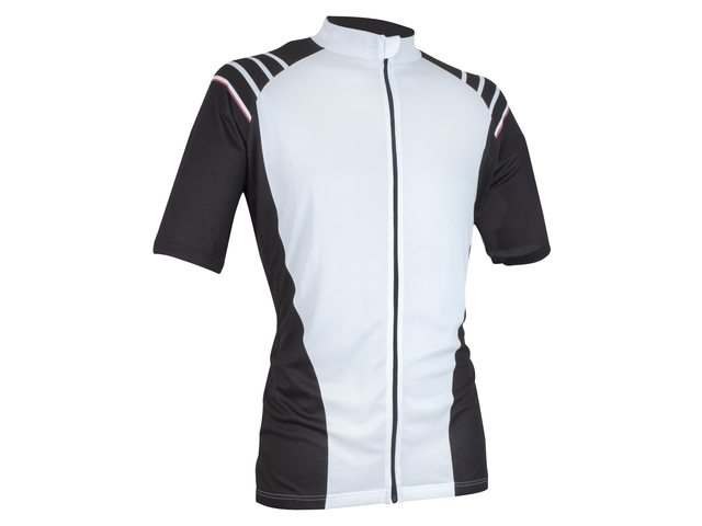 FastRider Flame Cycling Jersey Ss Black/White - Size XL