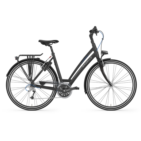 Gazelle Chamonix S27 Womens Bike 49cm 27S - Matt Black