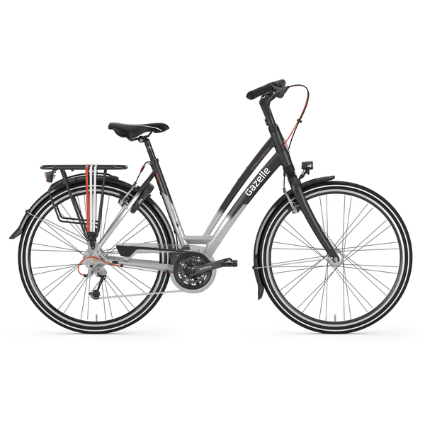 Gazelle Chamonix T27 Womens Bike 57cm 27S - Gray/Black