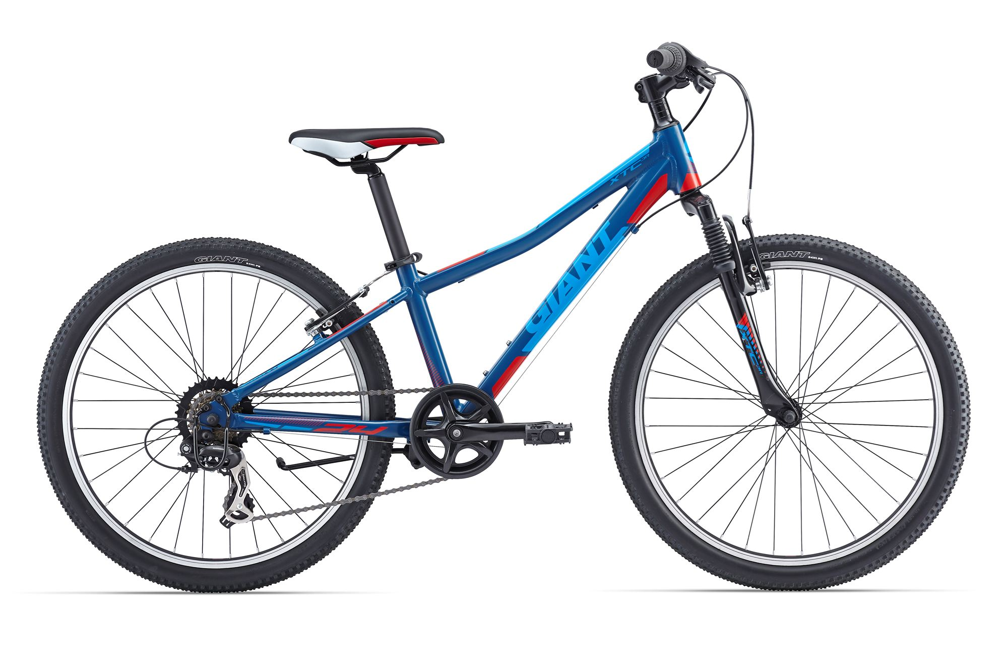 Giant XTC JR 24 Boys Bicycle 24 Inch 7S - Blue