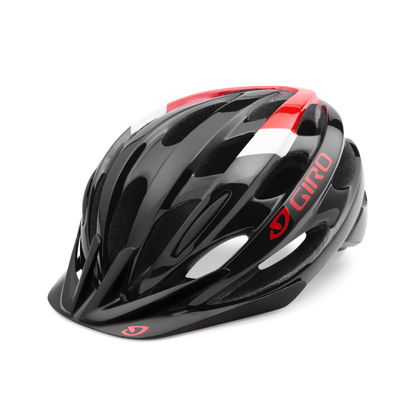 Giro Revel Cycling Helmet Black/Red - One Size 54-61cm