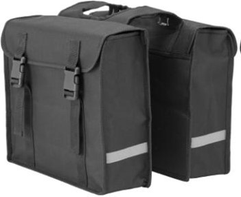 HBS Double Pannier with Reflective Strips 24L - Black
