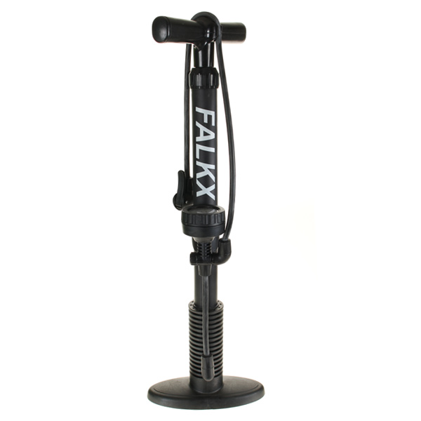 HBS Bicycle Pump With Barometer 11bar Double Valve Head