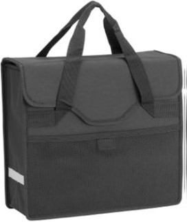 HBS Shopper Bag with Reflective Strips 13L - Black