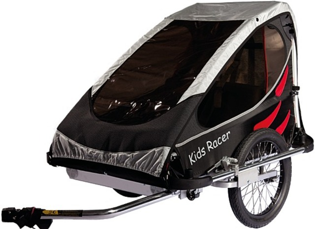 Kids Touring Bicycle Trailer Racer M - Black/Red