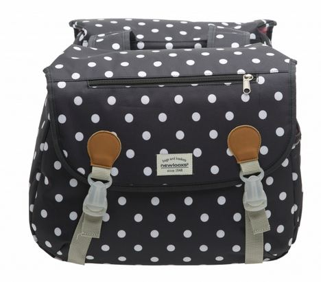New Looxs Double Pannier Joli 34L - Polka Black