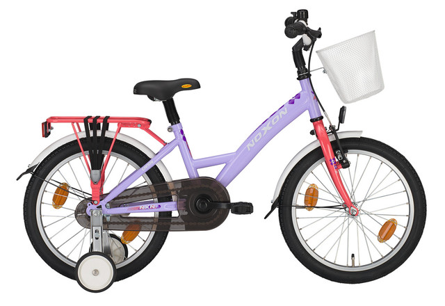 Noxon Candy Girls Bicycle 12 Inch - Lilac/Coraal
