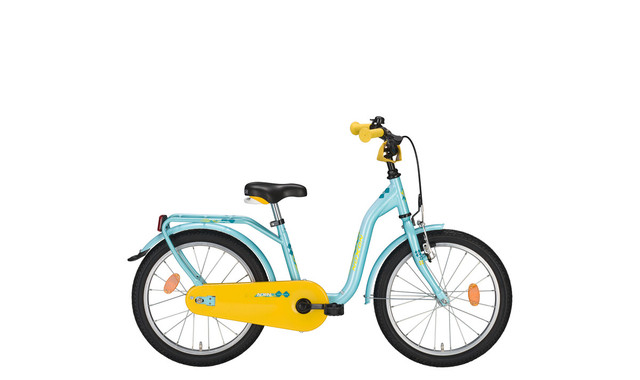Noxon Kids Girls Bicycle 12 Inch 22cm 1S - Blue/Yellow