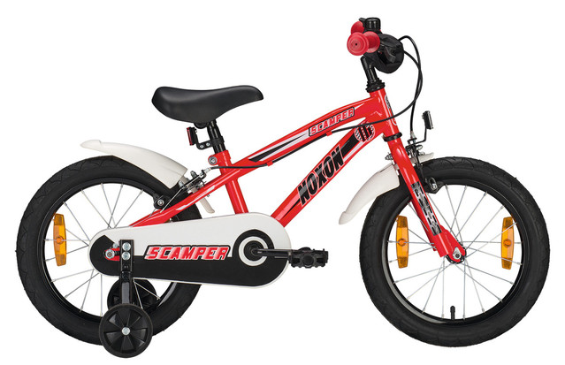 Noxon Scramper Boys Bicycle 16 Inch 1S - Red/White