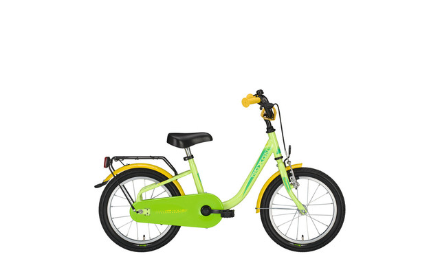 Noxon Skimpy Girls Bicycle 16 Inch - Green/Yellow