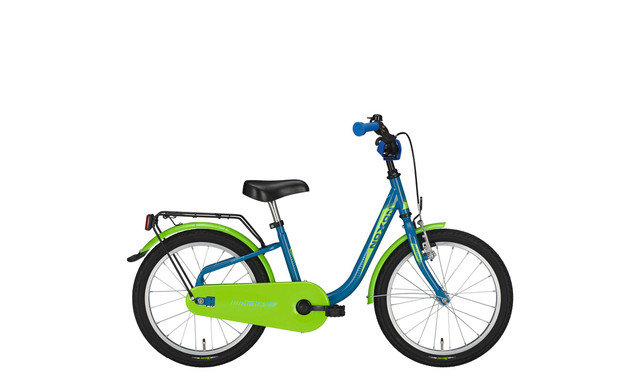 Noxon Skimpy Girls Bicycle 18 Inch - Blue/Green