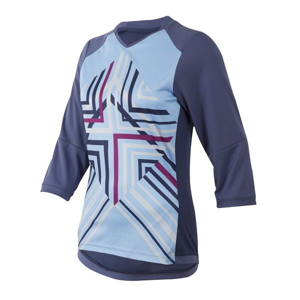 Pearl Izumi Launch 3/4 Sleeve Cycling Jersey Women Blue - S