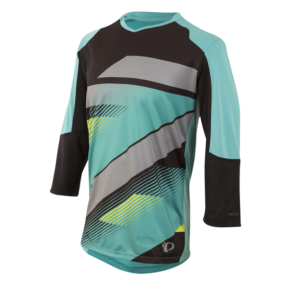 Pearl Izumi Launch 3/4 Sleeve Cycling Jersey Black/Green-XL