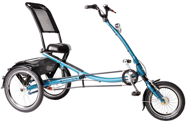 Pfau-Tec Tricycle Scooter Trike 16 Inch 7S Blue