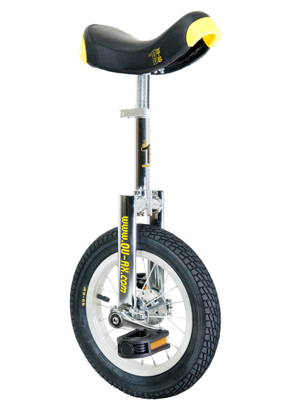 Qu-Ax Unicycle Luxus 12 Inch - Chrome/Black