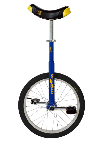 Qu-Ax Unicycle Luxus 18 Inch - Blue/Black