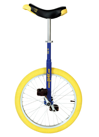 Qu-Ax Unicycle Luxus 20 Inch - Blue/Yellow