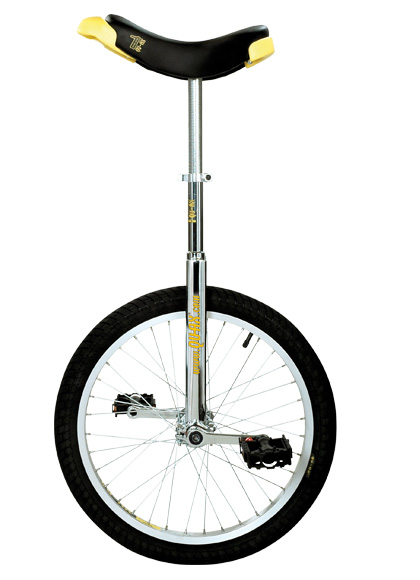 Qu-Ax Unicycle Luxus 20 Inch - Chrome/Black