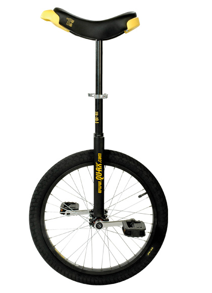 Qu-Ax Unicycle Luxus 20 Inch - Black/Black