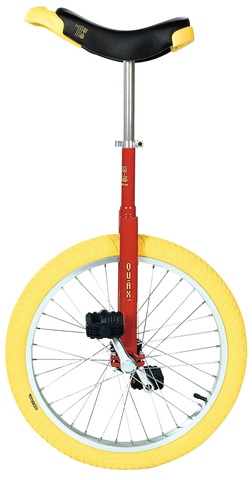 Qu-Ax Unicycle Luxus 20 Inch Red/Yellow
