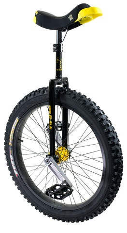 Qu-Ax Muni Q-Axle Unicycle 20 Inch Steel - Black