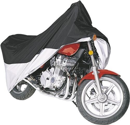 Roadstar Motorcycle Cover Basic Black/Silver Size L