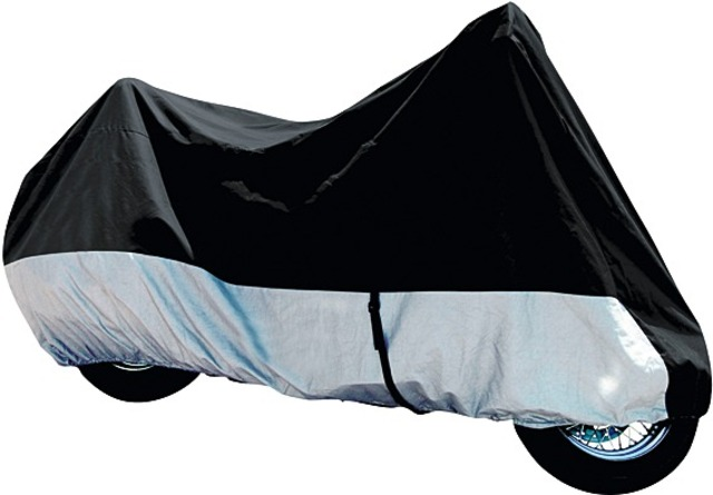 Roadstar Motorcycle Cover Basic Black/Silver Size XL