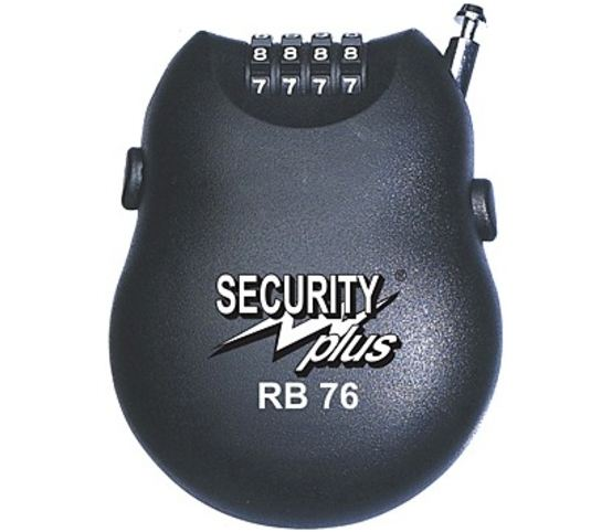 Security Plus Roll-Back Cijfer-Kabelslot RB76 100cm Black