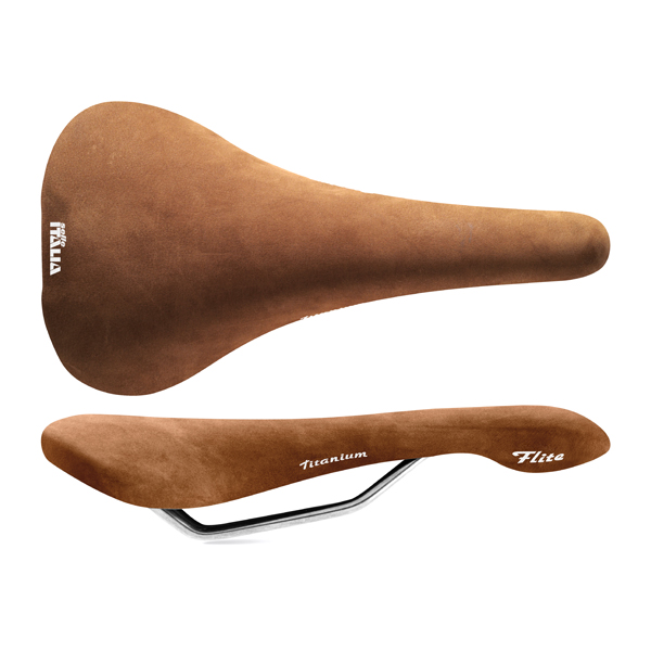 Selle Italia Bicycle Saddle Flite Nubuk L1 Brown