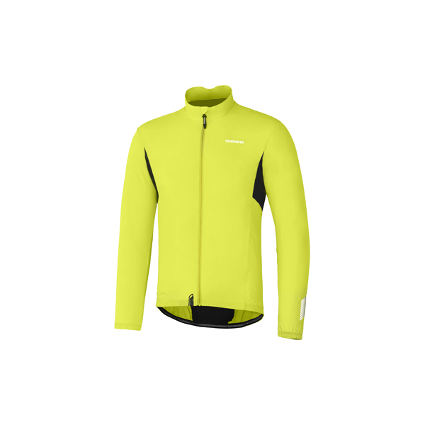 Shimano Compact Wind Jacket Green/Yellow - Size XXL