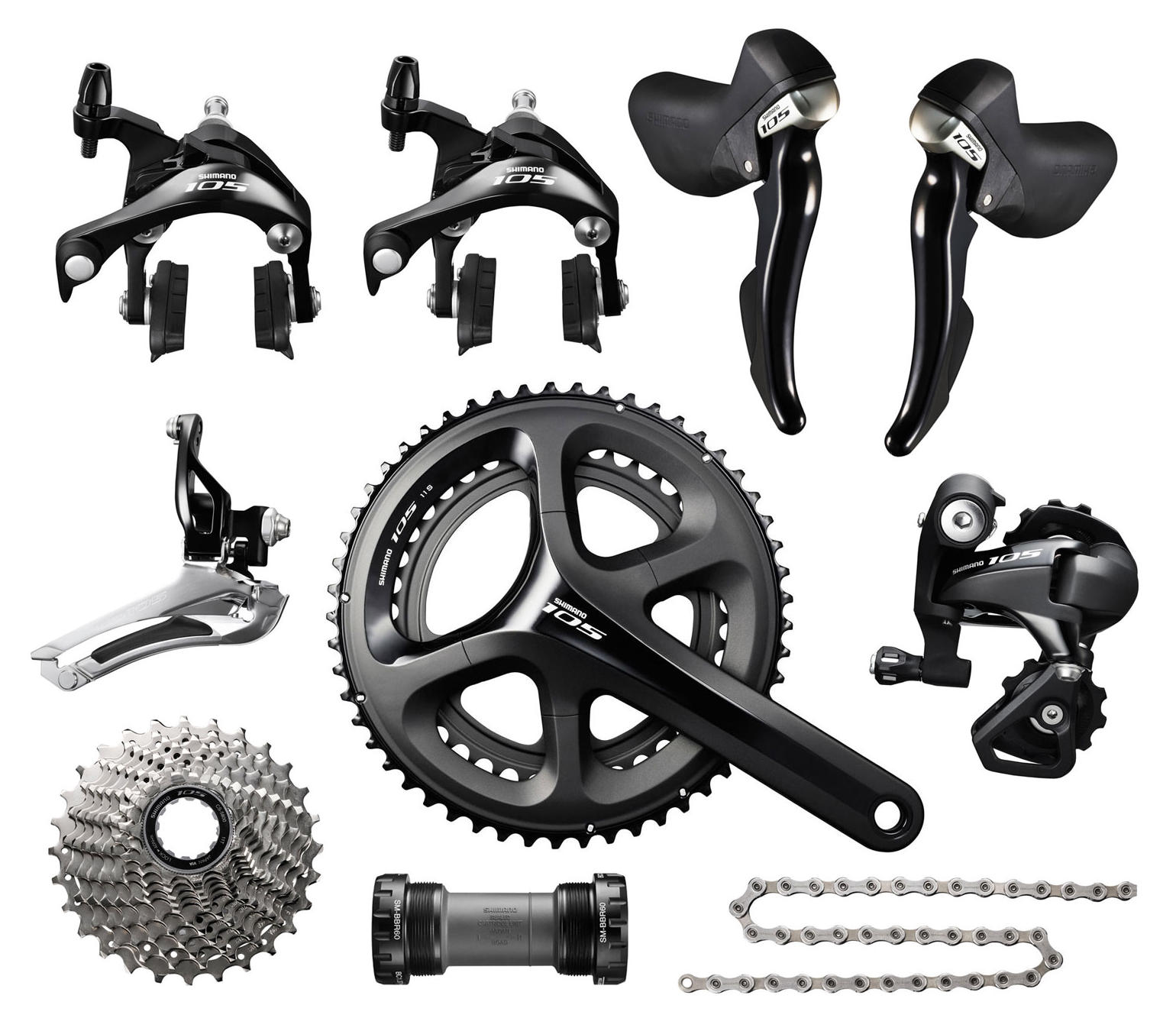 Shimano Groupset 5800 11V 50/34T 172.5mm 11-28T - Black
