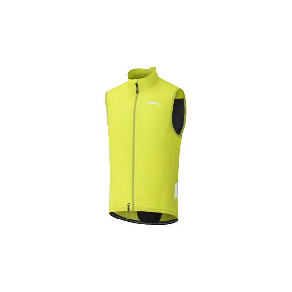 Shimano Performance Compact Wind Vest Green/Yellow - Size XL