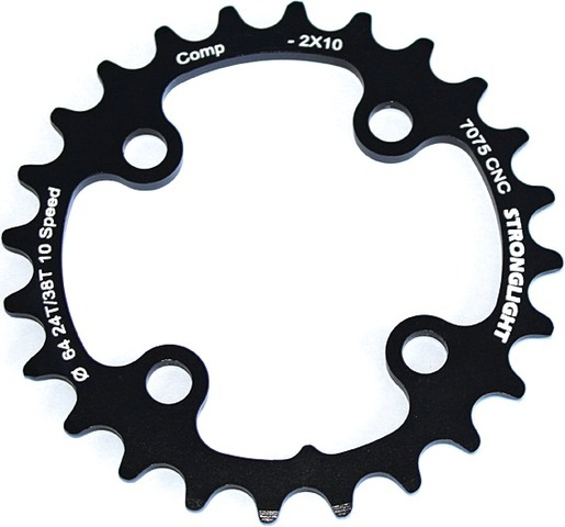 Stronglight Chainring 22T 2x10V BCD 64mm Black