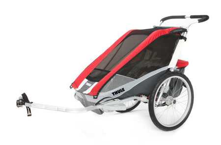 Thule Bicycle Trailer Cougar 2 Including Bicycle Set - Red
