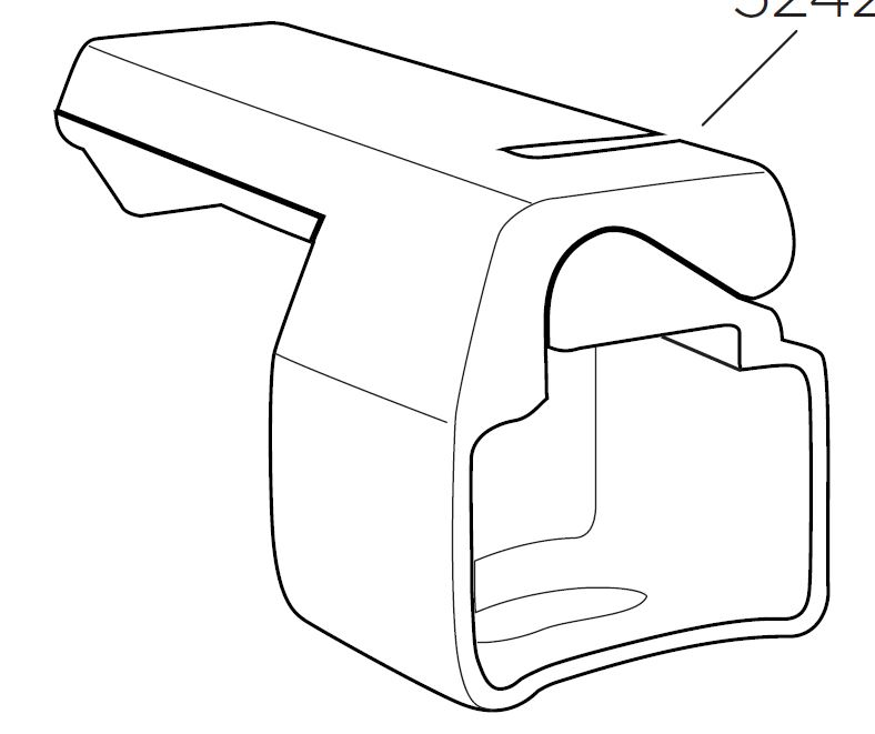 Thule Skiclick Clamp Square 52427 For Thule Skiclick 729