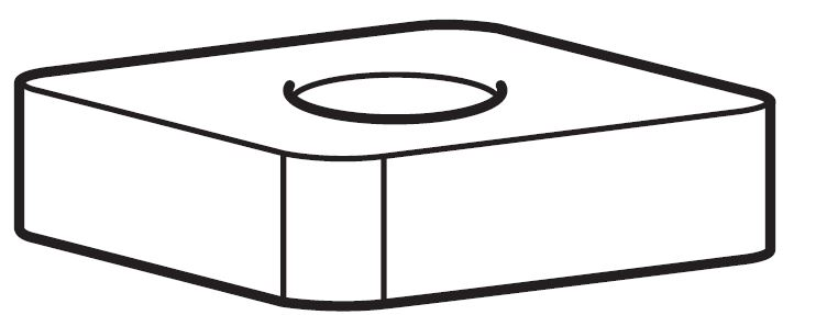 Thule Square Nut M6 50845 for Heavy-Duty Bar 390 - 395