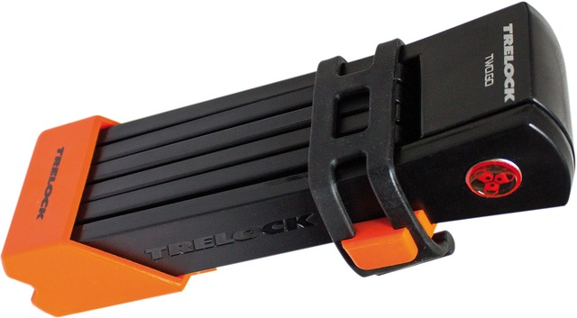 Trelock Folding Lock FS200/100 Two Go L 100cm - Orange/Black