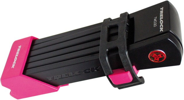 Trelock Folding Lock FS200/100 Two Go L 100cm - Pink/Black
