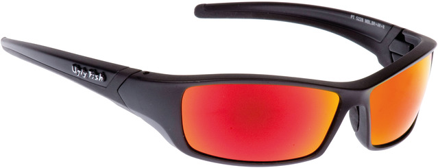 Ugly Fish RS5228 Sunglasses Red Glasses - Matt Black