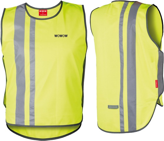 WOWOW Reflecting Vest Light Wear 2.0 Yellow - Size L