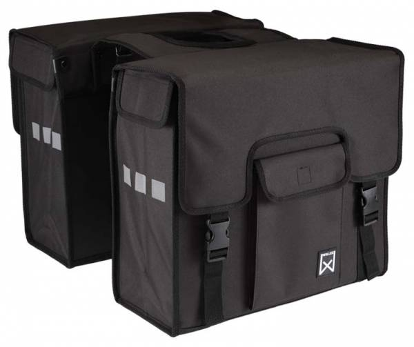 Willex Double Pannier Shopper Black 38L