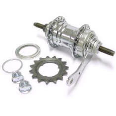Favorit Rear Hub Brake Hub Chrome 36 Hole