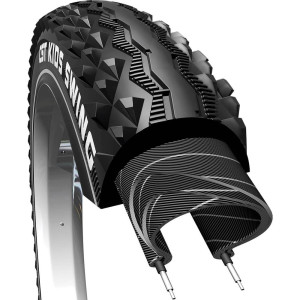 Cst Bicycle Tire 24X1.95 Mtb Black Reflection Swing