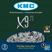 Kmc Bicycle Chain X9 73 Xsp 9V Grey