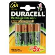 Duracell Battery AA 2000 mAh 1.2V Rechargeable 4 Pieces