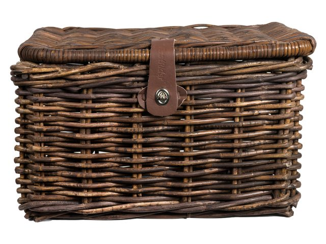 FastRider Rattan Basket with Flap 45x32x25cm - Brown
