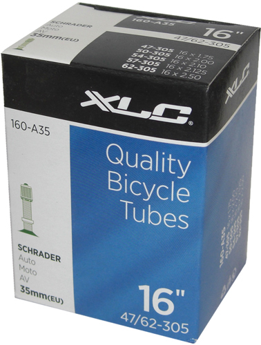 Xlc Bicycle Inner Tube 16 X 1.75 Schrader Valve 35Mm