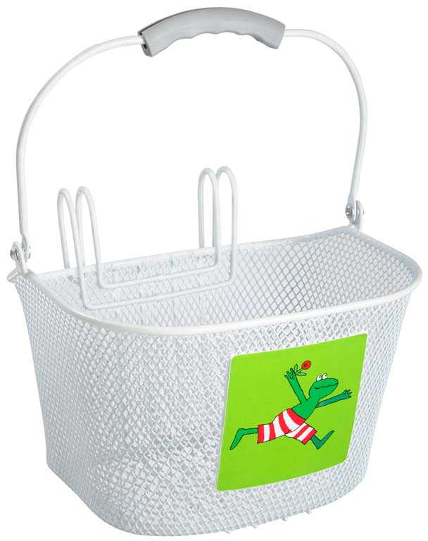 Willex Childrens Bicycle Basket Frog 6L White