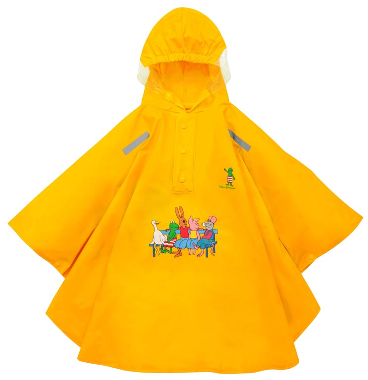 Willex Frog Poncho Size - 92/98 Yellow (Cape)